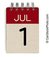 julho, calendário