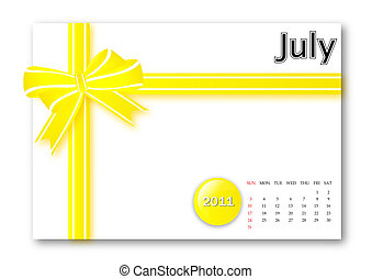 juli, 2011, kalender