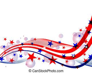 juli 4, -, dag, oberoende