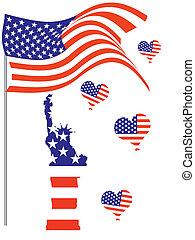 juli 4, -, dag, onafhankelijkheid