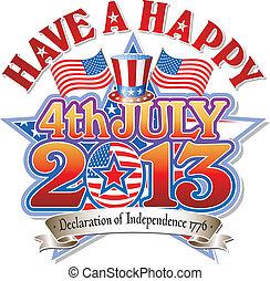 juli 4, stern, 2013, glücklich