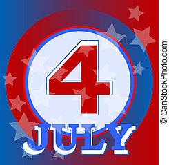 juli 4, tag, hintergrund, unabhängigkeit