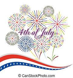 juli 4, tag, unabhängigkeit, glücklich