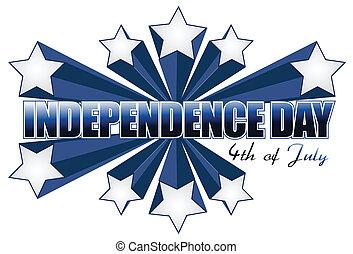 juli 4, tag, unabhängigkeit, zeichen