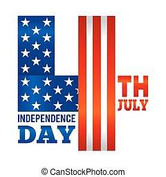 juli, amerikanische , viert, unabhängigkeit