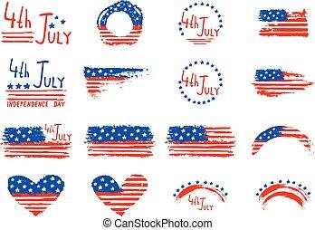 juli, onafhankelijkheid, 4, dag