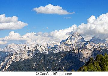Julian Alps and Mount Mangart, Friuli Italy - Julian Alps...