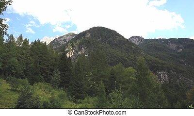 Julian Alps - View of Julian Alps, Slovenian side of the...