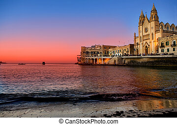 julians, s., -, malta, bahía