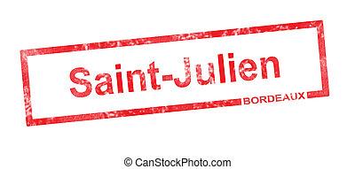 julien, rettangolare, appellation, santo, vigneto, bordeaux,...
