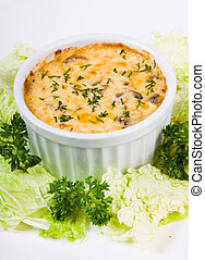 julienne with mushrooms