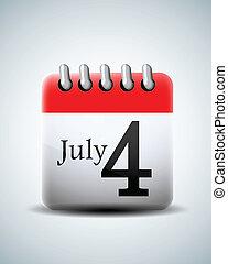 julio, 4, calendario
