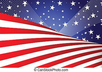 julio, bandera, cuarto