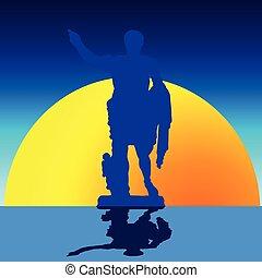 julio césar, estatua, illustratio