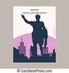 Julio Caesar Vintage Style Landmark Poster Template
