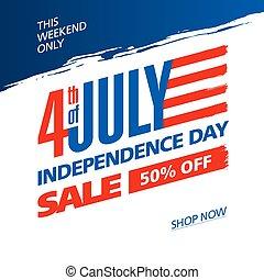 julio, independencia, cuarto, estados unidos de américa, día