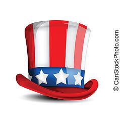 julio, sombrero, 4, celebración