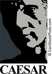 julius caesar, clipart, ícone
