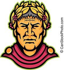 julius-caesar-head-frnt-MASCOT - Mascot icon illustration of...