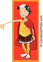 Julius Caesar Thumbs Down