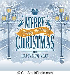 julkort, hälsning