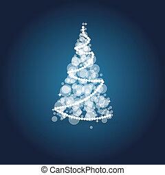 julkort, med, helgdag, elements.