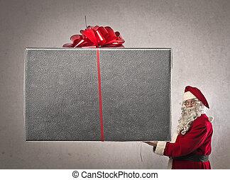 jultomten, gåva