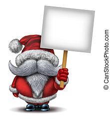 jultomten, hålla en skylt