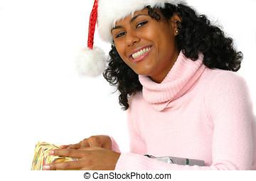 jultomten, lycklig