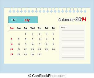 july., カレンダー, monthly., スケジュール