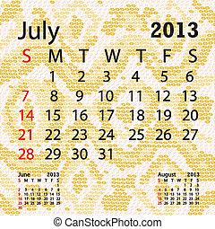 july 2013 calendar albino snake skin