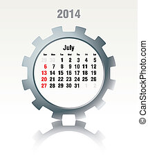 July 2014 - calendar