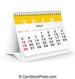 July 2015 desk calendar