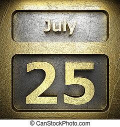july 25 golden sign