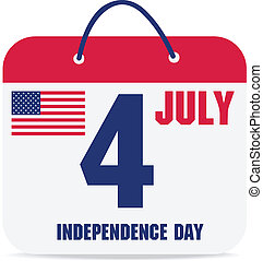 july 4 calendar, independence day american calendar design. vector illustration