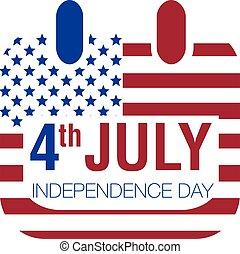 july 4 calendar, independence day