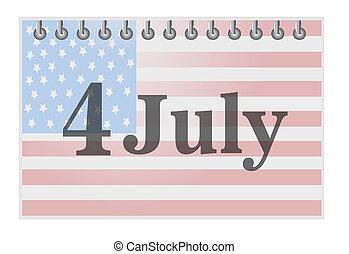 july 4 calendar