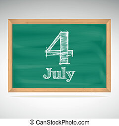 July 4, day calendar, school board, date