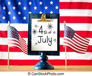 july 4, dekoráció