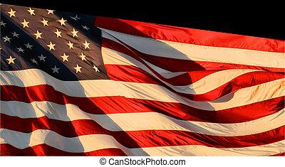 July 4 flag on black