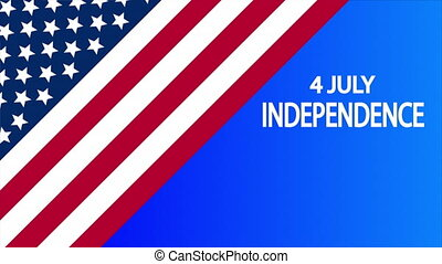 July 4 horizontal banner usa independence day, art video illustration.