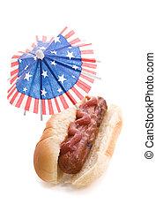 july 4, hot dog