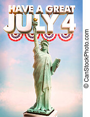July 4 Statue of Liberty Poster