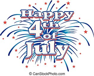 july 4, tűzijáték, boldog