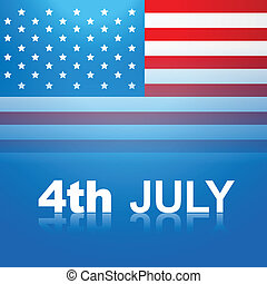 july 4th america - 4th july american independence day vector