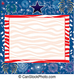 July 4th Background - Vector Illustration for the 4th of...