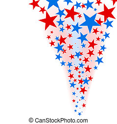 July 4th background – stars flow.
