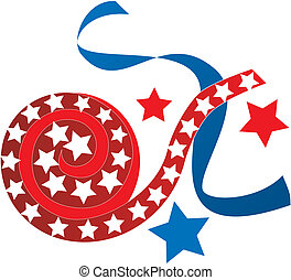 Vector Illustration for the 4th of July Independence. Set of Icons and Buttons.