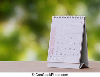 July Calendar 2017