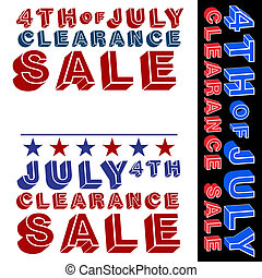 July Fourth Clearance Sale - An image of a July fourth...